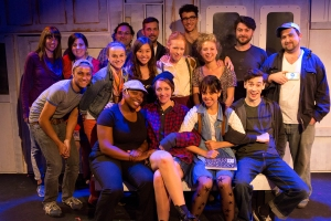 Me (seated front left) with the Production team and cast of killers by Kevin Armento (2013)